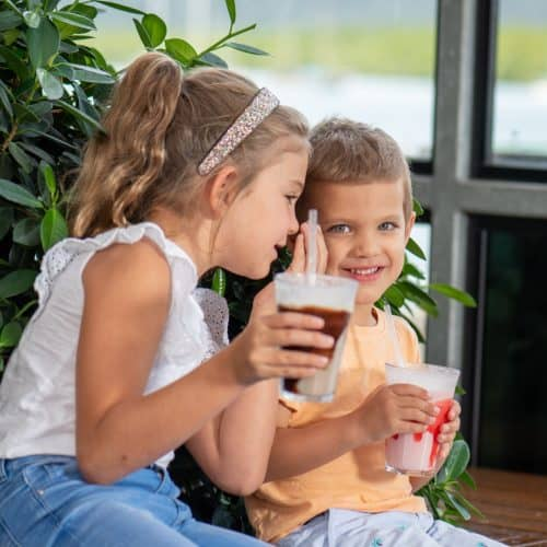 Wharf One Cafe - Gallery children laughing drink